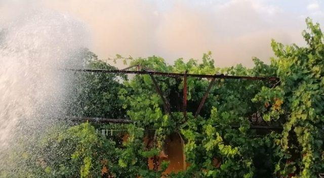 Ortaca'da ev yangını