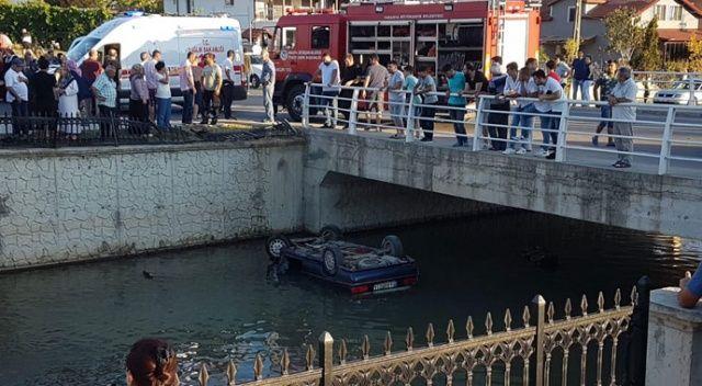 Sakarya'da otomobil dereye uçtu: 3 yaralı