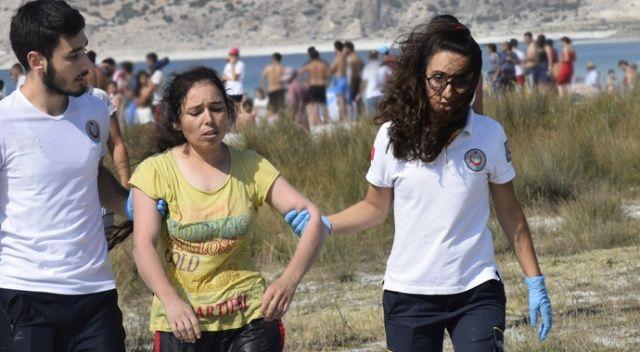 Salda Gölü'nde bir kişi boğularak hayatını kaybetti