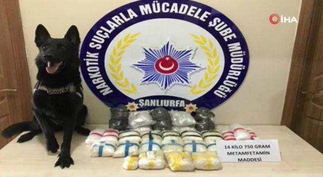 Şanlıurfa'da 4 buçuk milyon liralık uyuşturucu ele geçirildi