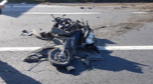 Sarıyer'de hız yapan motosikletler çarpıştı