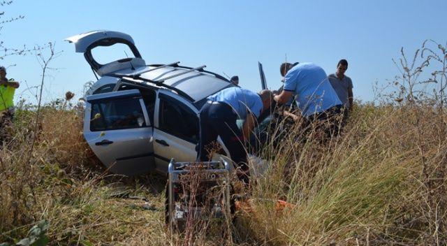 Tekirdağ'da otomobil şarampole uçtu: 2 yaralı