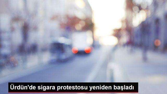 Ürdün'de sigara protestosu yeniden başladı