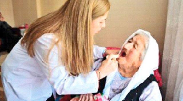 4 bin 500 kişiye evde  diş hizmeti