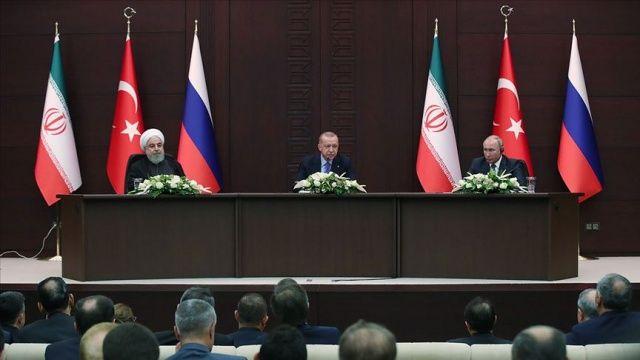 Ankara'da üçlü Suriye Zirvesi! Erdoğan, Ruhani ve Putin, Suriye'yi görüştü