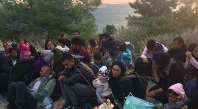 Ayvalık'ta 48 göçmen 3 organizatör yakalandı