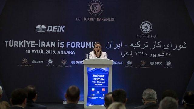 Bakan Pekcan: Türkiye-İran ilişkileri iş dünyasının önünü açıcı bir yön alıyor