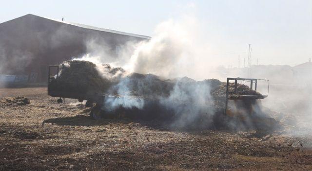 Benzin istasyonuna 200 metre kala yandı