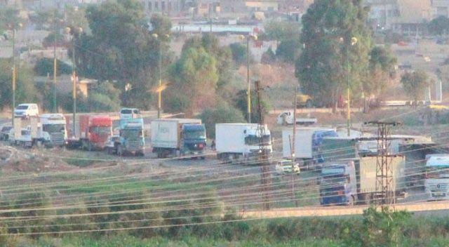 Sınırda dikkat çeken hareketlilik! ABD'nin 200 araçlık konvoyu böyle görüntülendi