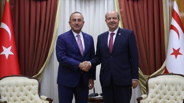 Çavuşoğlu KKTC Başbakanı Tatar ile görüştü