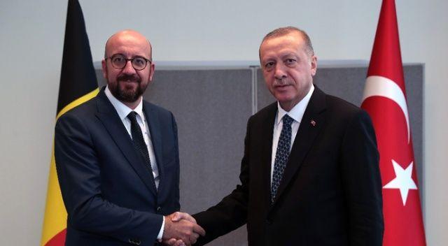 Cumhurbaşkanı Erdoğan Belçika Başbakanı Michael'i kabul etti