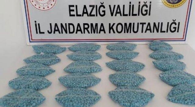 Elazığ'da 20 bin uyuşturucu hap ele geçirildi