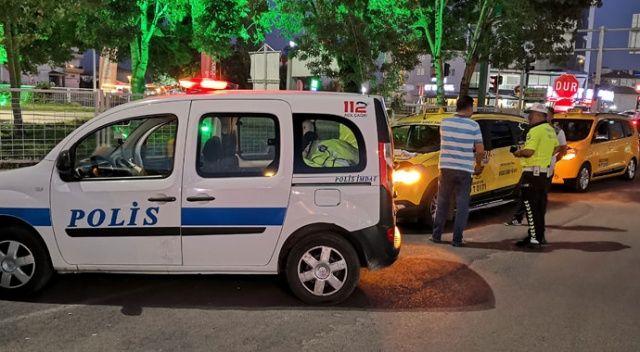 Fazla yolcu taşıyan 2 ticari taksiye ceza kesildi