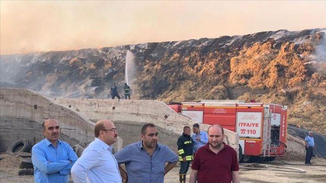 Gaziantep'te 10 bin büyükbaş hayvanın bulunduğu çiftlikte yangın