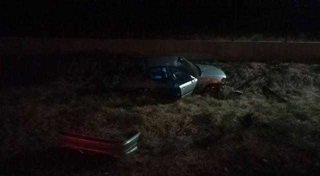 İzmir'de otomobil şarampole uçtu: 1 ölü, 1 yaralı