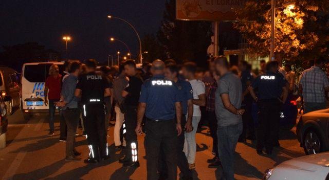 Malatya'da polisi alarma geçiren düğün konvoyu