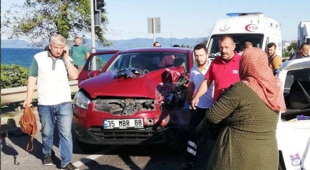 Ordu'da otomobiller çarpıştı: 4 yaralı
