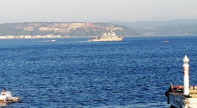 ABD savaş gemisi 'USS Porter', Çanakkale Boğazı'ndan geçti