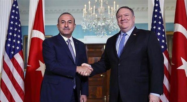 Çavuşoğlu, ABD Dışişleri Bakanı Mike Pompeo ile görüştü