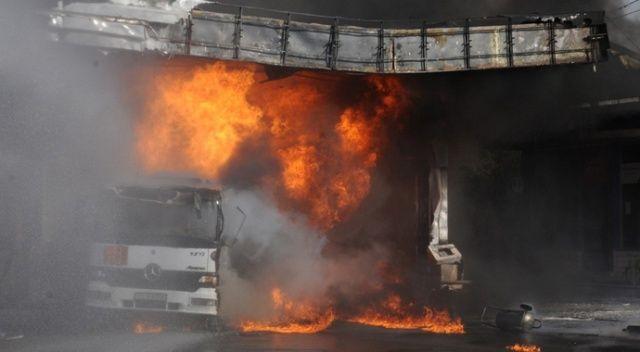 Cizre'de yakıt istasyonu yandı, vatandaşlar büyük bir korku yaşadı