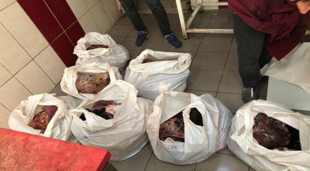 Korkunç! Satışa hazır vaziyette yarım ton bozuk et ele geçirildi