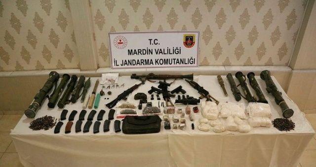 Mardin'deki terör operasyonunda PKK'nın lav silahı zulası patlatıldı