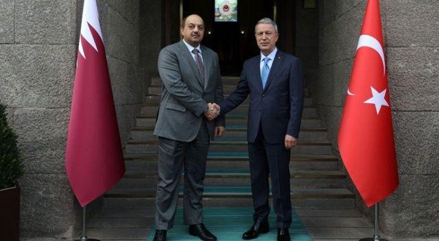 Milli Savunma Bakanı Akar, Katarlı mevkidaşı El-Attiye ile görüştü