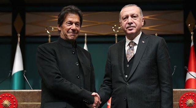 Pakistan Başbakanı İmran Han'dan Cumhurbaşkanı Erdoğan'a destek telefonu