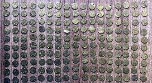 Samsun'da 170 adet tarihi sikke ele geçirildi