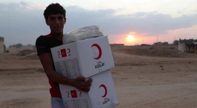 Türk Kızılay'dan Resülayn'a insani yardım