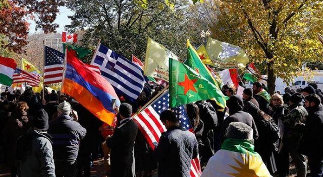 ABD'de Ermeni dernekleri ve PKK yandaşlarından Türkiye karşıtı eylem