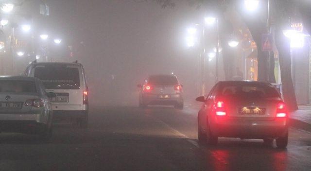 Aksaray'da yoğun sis hayatı olumsuz etkiliyor