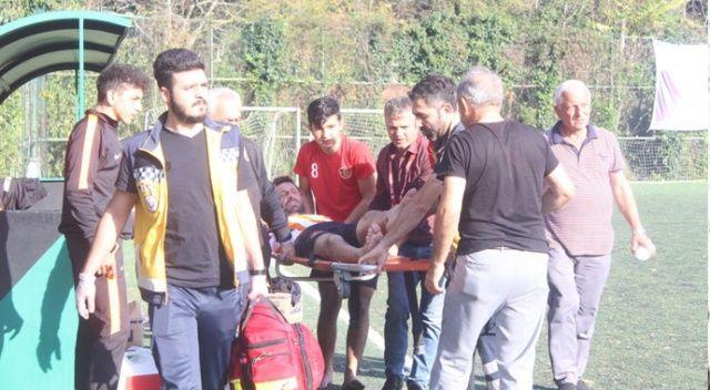 Amatör maçta korkutan an... Genç futbolcu baygınlık geçirdi!
