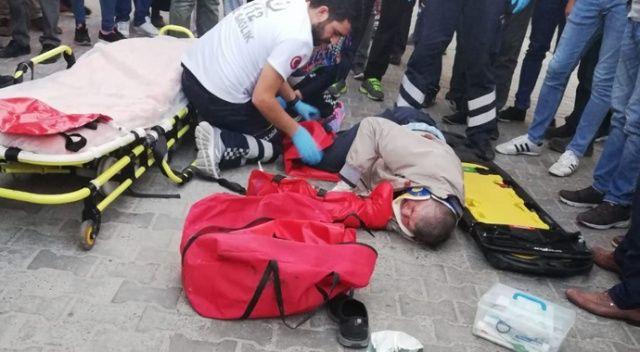 At arabasının çarptığı yaşlı adam yaralandı