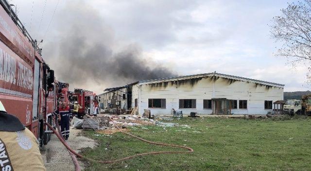 Çatalca'da korkutan fabrika yangını