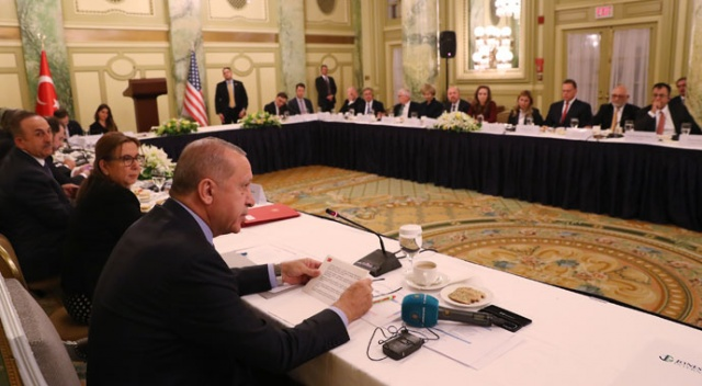 Cumhurbaşkanı Erdoğan, ABD'de Yuvarlak Masa Toplantısı'na katıldı