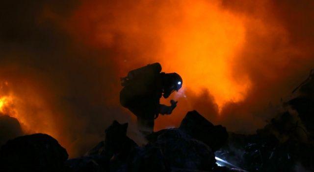 Geri dönüşüm fabrikasındaki yangın kontrol altına alındı