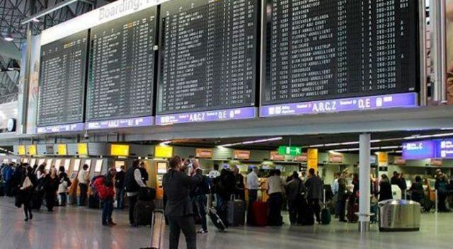 Hollanda'da havalimanında alarm sesleri