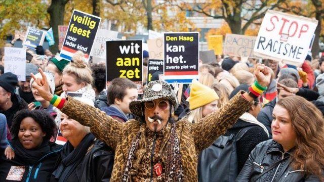 Hollanda'da ırkçılık karşıtı protesto