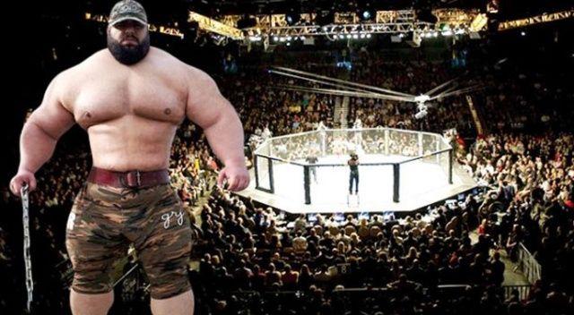 İranlı dev adam Hulk, ABD'ye karşı! Kafeste dövüşecek...