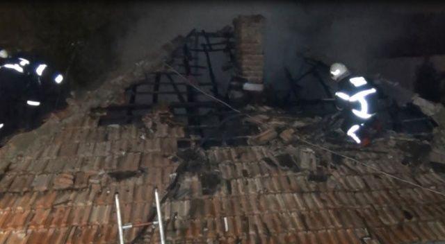 Kırıkkale'de korkutan ev yangını