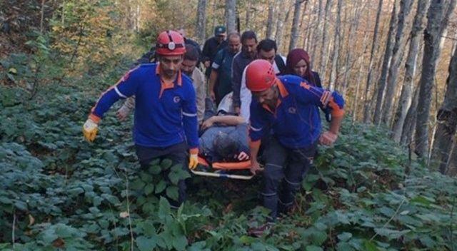 Ormanlık alanda mahsur kalan şahsı AFAD kurtardı