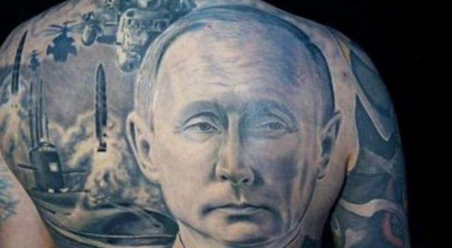 Putin hayranı Rus sırtına dev Putin dövmesi yaptırdı
