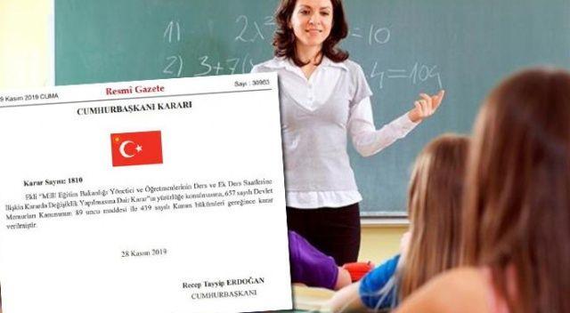 Resmi Gazete'de yayımlandı! Öğretmenlere ek ders ücreti müjdesi