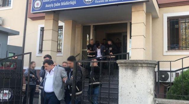 Sakarya'da otomobil dolandırıcılarına operasyon: 11 gözaltı