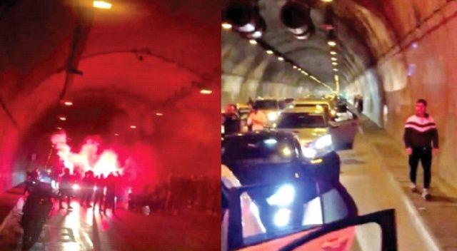 Şehir magandaları tünel kapatıp havaya ateş açtı