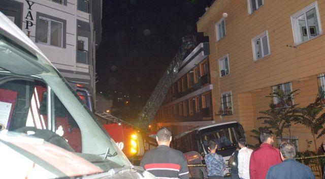 Şişli'de 9 katlı binada korkutan yangın