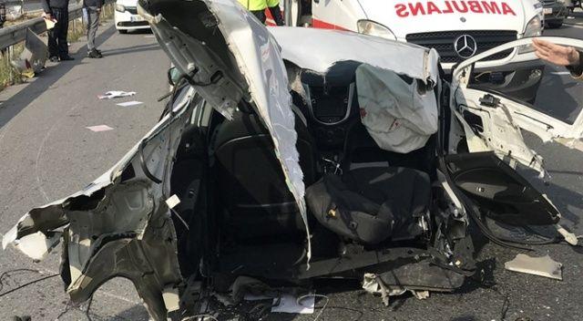 TEM Otoyolu'nda feci kaza: 1 ölü, 2 ağır yaralı
