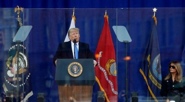 Trump'ın konuşmasında dikkat çeken görüntü!