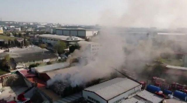 Tuzla'da korkutan yangın